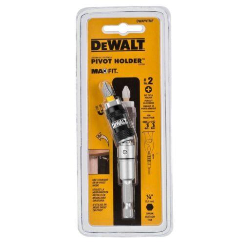 """Dewalt Pivot Drill Driver Bit Holder 1//4/"""" Maxfit Hex Extension Magnetic Tool New"""