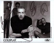 Coldplay Autograph Signed Photo Preprint Glossy Music Portrait Chris Martin