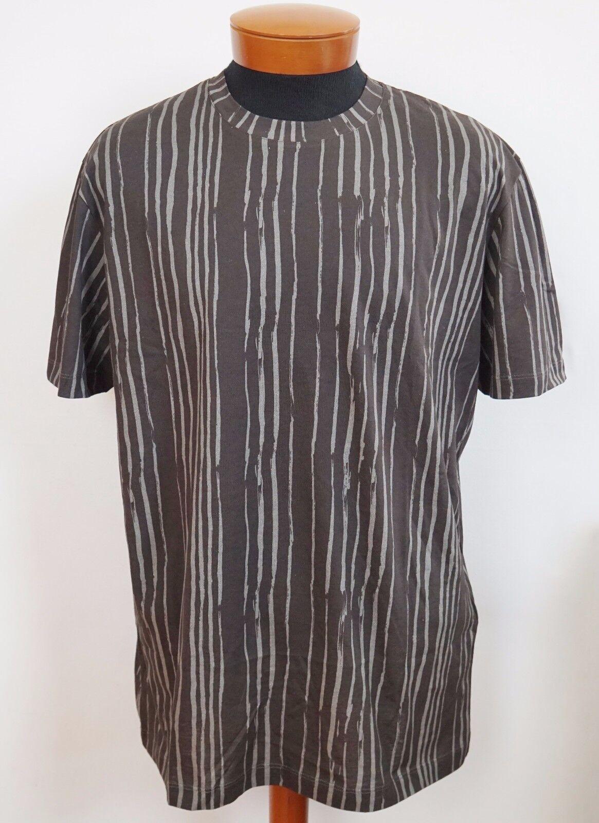 NWT BOTTEGA VENETA Braun TRIBAL Stripes Cotton T-Shirt IT-48/M IT-52/L IT-54/XL