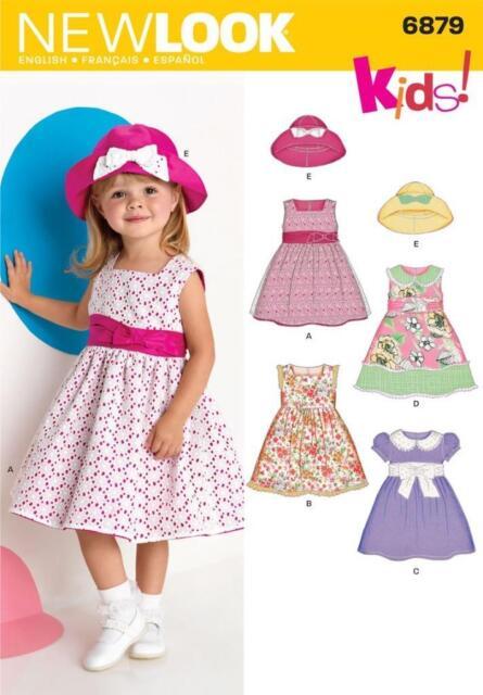 Look Kleider für Kleinkinder Schnittmuster Nr. 6879 Baby Mütze | eBay