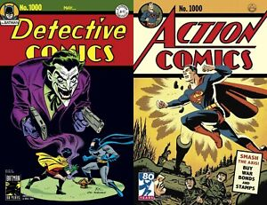 Detective-Comics-1000-BATMAN-Action-Comics-1000-SUPERMAN-both-1940-variants