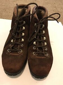 b42db96b501 Details about THE ALPS FABIANO PALONS Brown Suede Hiking Boots Size 6.5 N  Womens Vintage
