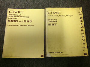 1987 Honda CIVIC Repair Service Shop Workshop Manual Set W ...