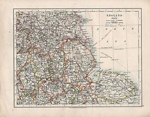Carte Angleterre Derby.Details Sur Carte Victorienne 1909 Angleterre East Lincoln York Leicester Norfolk Derby Etc Afficher Le Titre D Origine