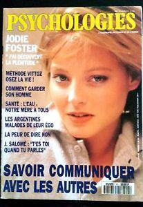 """Fougueux Psychologies N°95 Du 02/1992; Couverture Jodie Foster """"j'ai Découvert La Plénitu"""