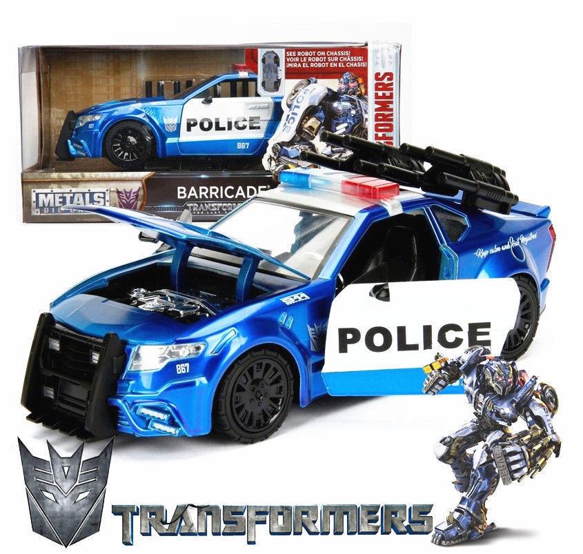JADA 1 24 Transformers 5 Barricade Die Cast Metal GT350R Ford Mustang Model Car