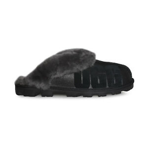 637c5e9e9e1 Details about UGG COQUETTE SPARKLE BLACK SUEDE SHEEPSKIN WOMEN'S SLIPPERS  SIZE US 9/UK 7.5 NEW