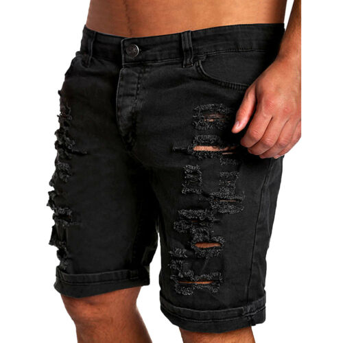 Men/'s Shorts Summer Holes Shorts Jeans Fashion Designers Shorts Jeans Men/'s Slim