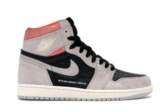 Air Jordan 1 Retro High OG Men's Size 12 Neutral Grey HYPER Crimson 555088  018