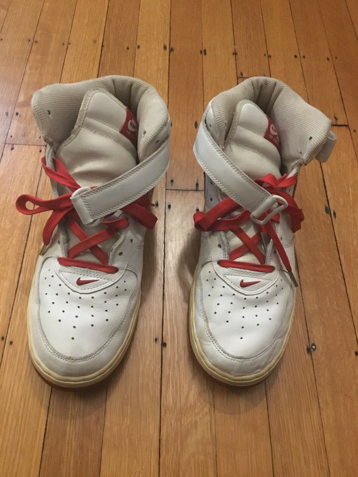 Men's Nike Air Force 1 White Red 306352-163-00 US Size 12 Rare