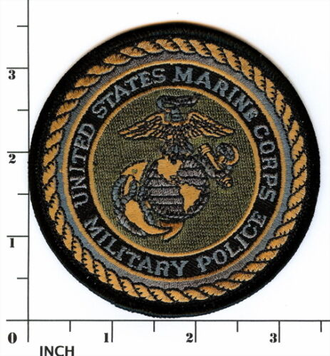 USMC Military Police subdued OD Marines PATCH Marine Corps MP Eagle-Globe-Anchor
