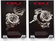 Oakley Elite FMJ Full Metal Jacket Watch POP Card Set Titanium with Black 2 Set