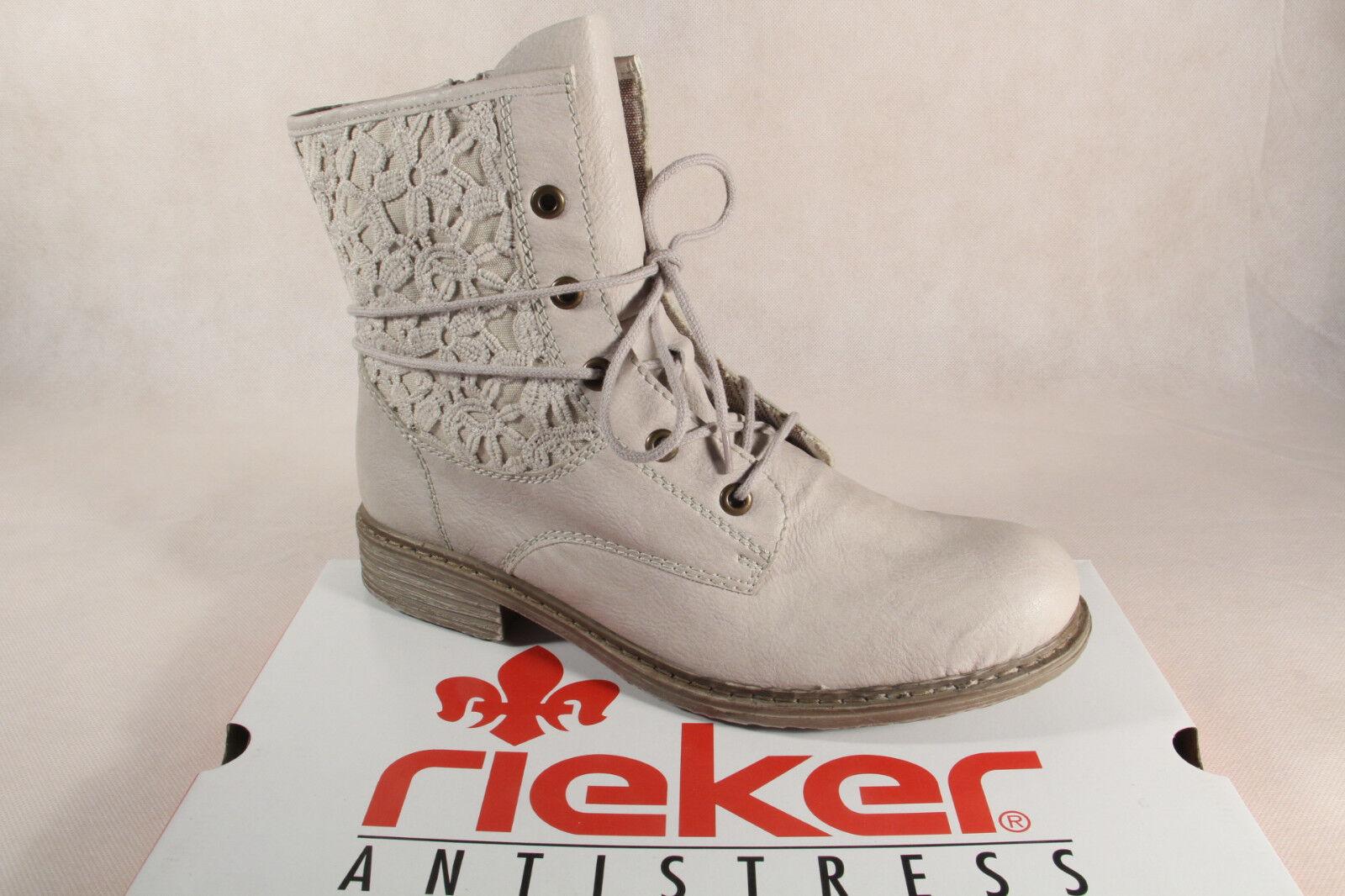 fino al 42% di sconto Rieker Z2118 Stivali Donna Donna Donna Stivaletti stivali Finta pelle Bianco Nuovo  all'ingrosso economico e di alta qualità