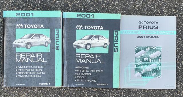 2001 Prius Repair Manual Vol 1 And 2 And Electrical Wiring