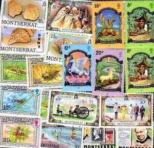 Montserrat 100 timbres différents