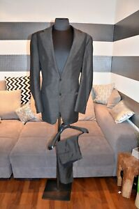Sartoria-de-Togni-Anzug-aus-Wolle-NP-4500-Gr-114-grau-NEUWERTIG