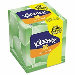 Kleenex Anti-Viral 3-Ply Facial Tissues - KCC25836CT