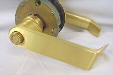 Schlage Rhodes DSeries Heavy Duty Satin Brass Entrance Lever D73PD RHO606 1HW