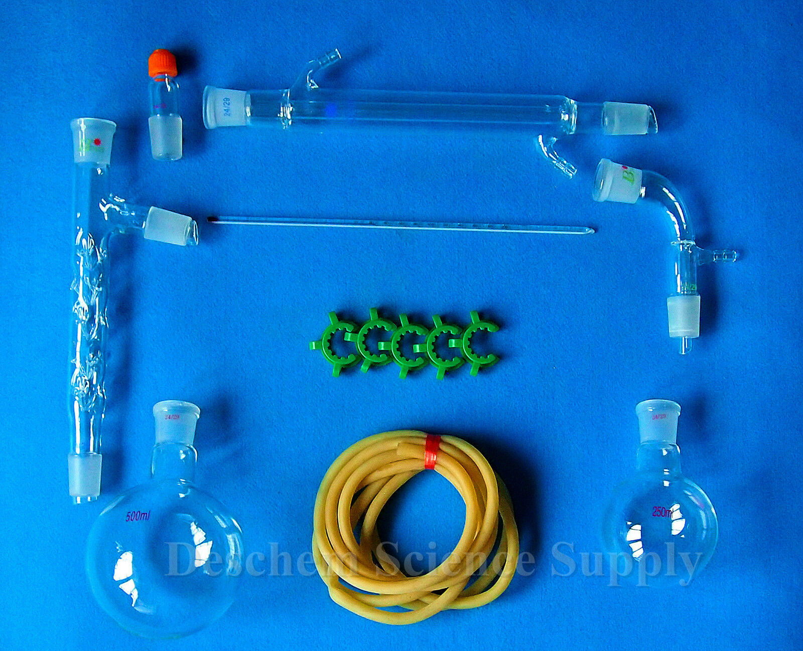 500ml,24/29,Distillation Apparatus,Vacuum Distill Kit,Vigreux Column W/Side Arm 2