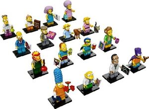 NEW-LEGO-71009-Complete-Set-of-16-MINIFIGURES-The-Simpsons-Series-2