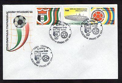 FDC ITALIA COPPA DEL MONDO DI CALCIO ITALIA'90 annullo Emirati ARABI COLOMBIA