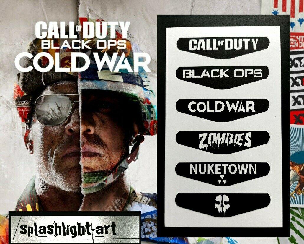 CALL OF DUTY Black Ops Cold War PS4 Controller Light Bar 6x Vinyl Decal Sticker