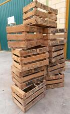 LOTE  3 CAJAS de madera  CAJONES antiguos de fruta VINTAGE antiguas loft