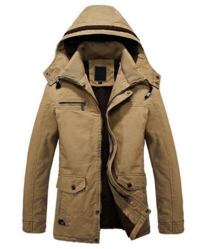 Men Mens Winter Jackets Military Parka, Mens Winter Coats Fur Lined