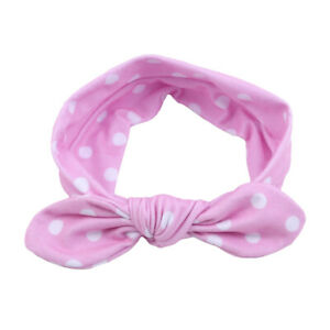 Girls-Cute-Rabbit-Ears-Ribbon-Elastic-Hair-Headband-Bow-Turban-Hair-Accessory-S8