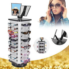 44 Pair 360 Rotating Counter Top Sunglasses Display Rack Holder With Mirror Usa
