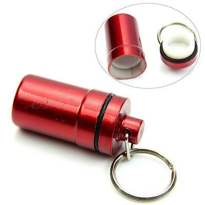 Mini Pill Box Case Bottle Cache Drug Holder Keychain Container