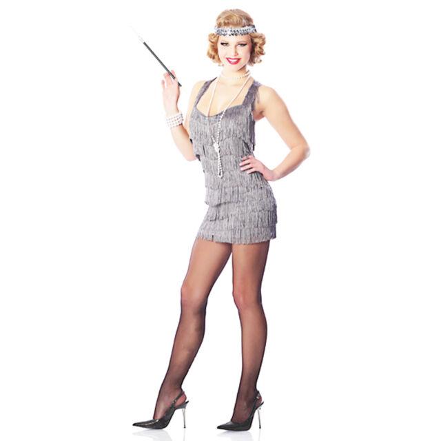Fringed Flap Happy 1920's Flapper Charleston Gangster Fancy Dress Costume