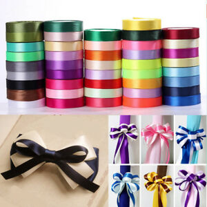 Fashion-25Yards-Roll-Satin-Ribbon-Sewing-Fabric-Gifts-Wrapping-Wedding-Party-DIY