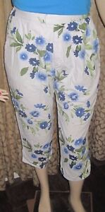 Blassport-Size-18-Pretty-Blue-Floral-Crop-Pants