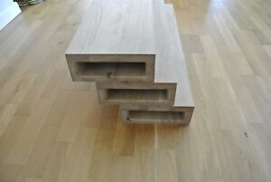 oak stair treads for floating staircase - untreated