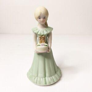 Enesco 1982 Birthday Growing Up Girls Age 11 Blonde Porcelain Figurine