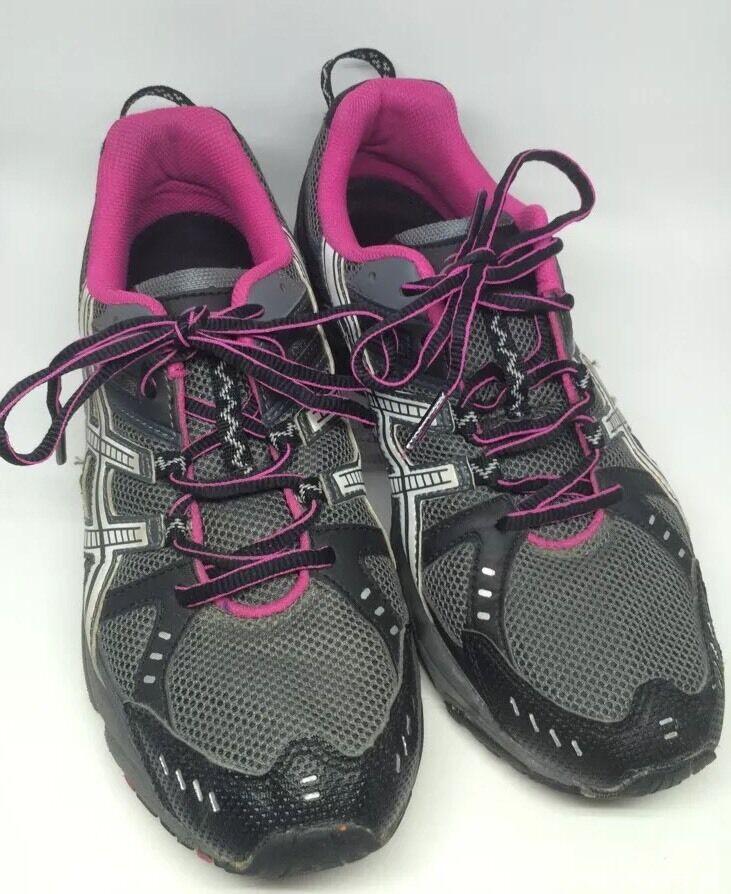 Asics Gel-Venture 3 Womens Trail Running shoes T26CQ White pink shoes Sz 9.5 M