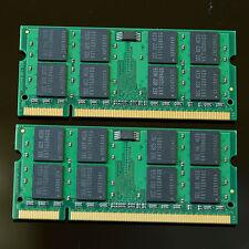 Neu 4GB 2x 2GB PC2-6400 6400 DDR2 800 MHZ 2Rx8 Laptop Speicher SO-DIMM 200pin