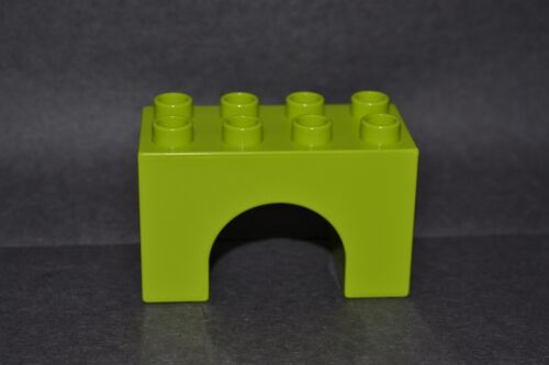 2X4 tall arch block combined shipping lime green Duplo arch block