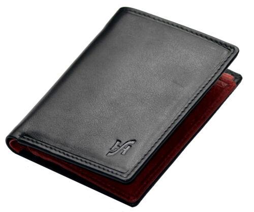 Starhide Designer Hommes Luxe Noir rouge en cuir portefeuille avec fermeture éclair pockt #815