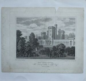 1824-ANTIQUE-PRINT-EAST-COWED-CASTLE-SEAT-OF-JOHN-NASH-ISLE-OF-WIGHT
