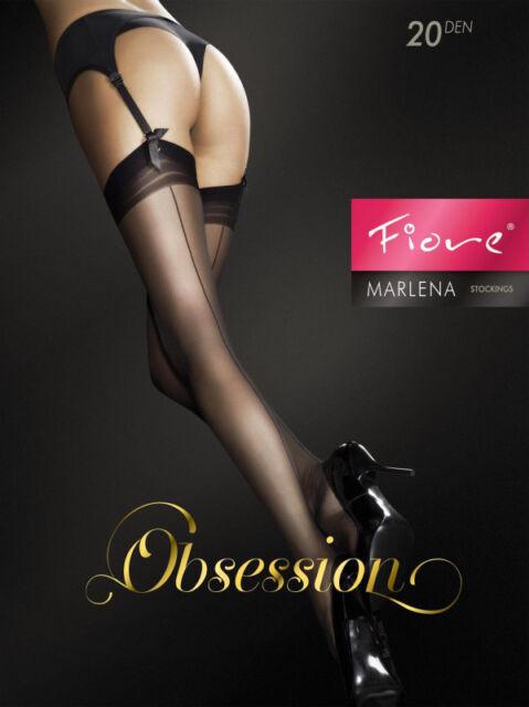 Bas pour porte-jarretelles noirs couture trait fin élégants pinup 20D Marlena