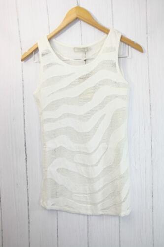 Cream Shirt Top  Gr S  ❤  Leichte luftige Sommer-Top Netz Optik Neu