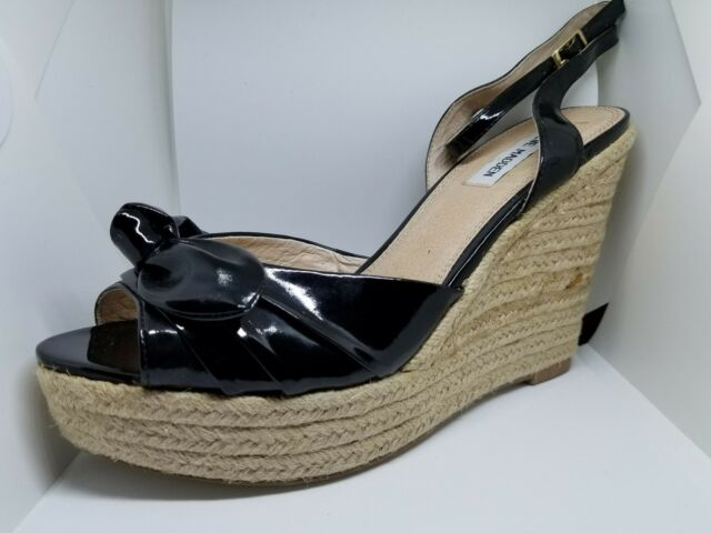 Black Patent Leather Wedges Size