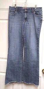 GAP-Curvy-Low-Rise-Women-039-s-Boot-Cut-Blue-Jeans-Size-12-Long
