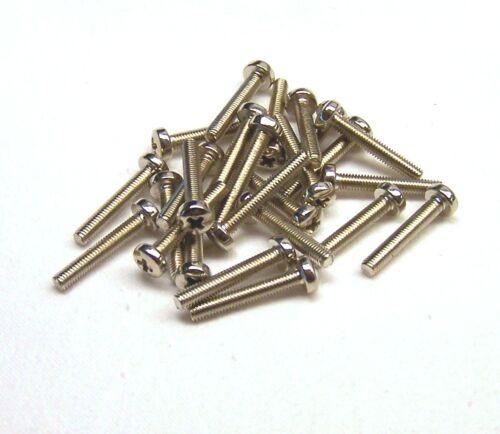 50 Gewindeschrauben Halbrund Pan-Head Kreuz DIN 7985 vernickelt M2,5 x 18 mm