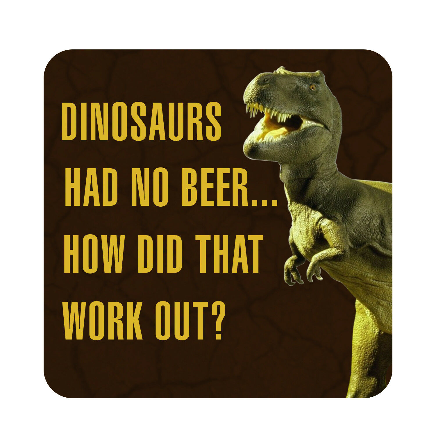 Dinosaurs Had No Beer How Did That Work Out Pool Party Decor Patio Sign Plaque