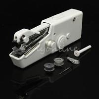 Mini Stitch Handheld Portable Home Travel Fabric Sewing Machine Cordless Mains