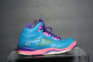 d42018f277c Nike Air Jordan 5 V Retro 13 Sneaker Athletic Multi Teal Purple 3Y ...