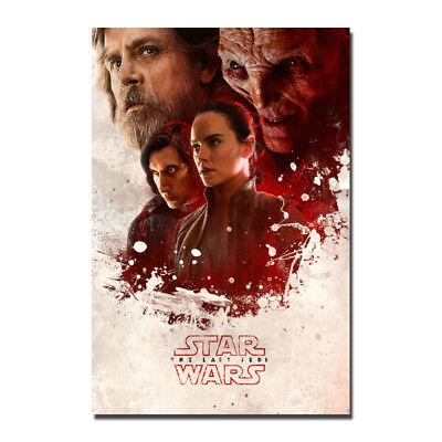 Star Wars The Last Jedi Episode VIII Silk Canvas Poster 13x20 24x36 inch